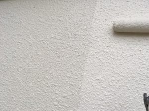 外壁上塗り。
