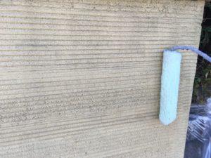 擁壁塗装。