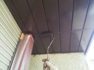 軒天塗装上塗り