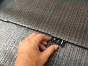 屋根塗装、縁切り