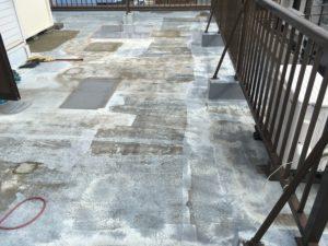 防水改修、下塗り