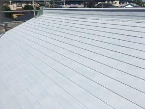屋根サビ止め、中塗り、上塗り