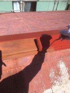 錆び止め      屋根の上塗り