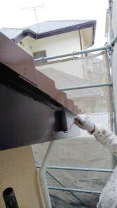 破風板、樋塗装