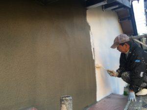 外壁塗装、模様付け!