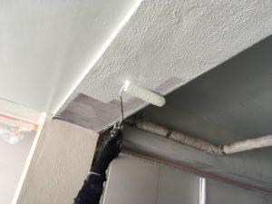 ガレージ天井塗装