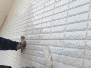 外壁塗り替え上塗り