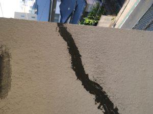 雨漏り外壁 クラック処理