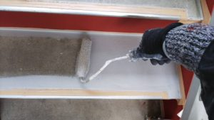 塗り替え雨漏り鉄骨階段塗装