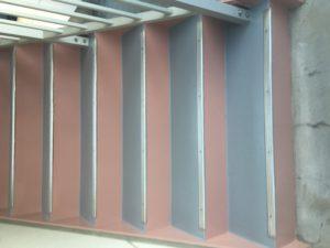 塗り替え階段鉄骨床防水