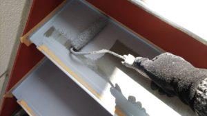 塗り替え鉄骨階段防水工事